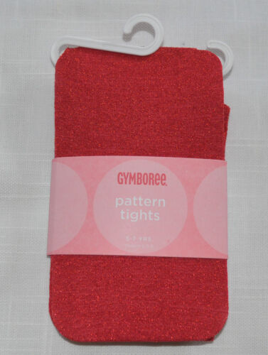 Gymboree Holiday Classic Glamour Kitty Leopard or Red Sparkle Tights NWT 3 4