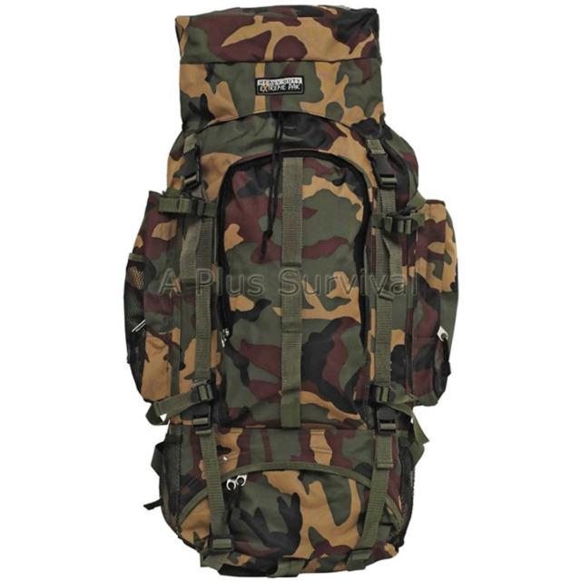Camouflage Hiking Survival Kit Bug Out Bag Kit Backpack