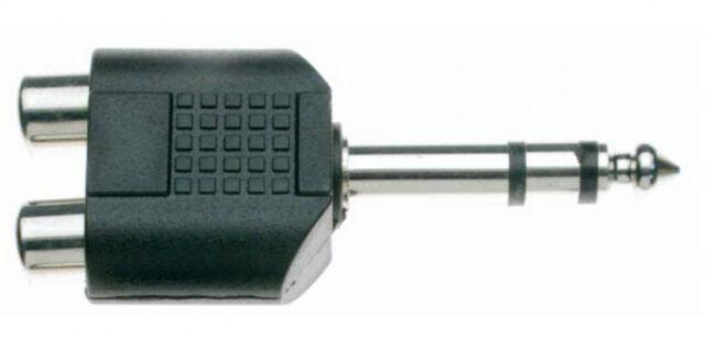 Adaptateur 2 x RCA Femelle vers Jack 6,35 Mâle STEREO