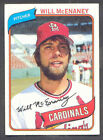 1980 Topps Will Mcenaney #563 Baseball Card