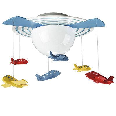 Childrens Ceiling Light Avigo Aeroplane Novelty Ceiling Light - Kico