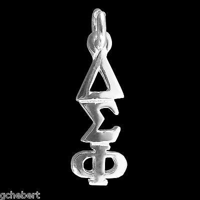 Delta Sigma Phi, ΔΣΦ, Lavalier Pendant Classic .925 Sterling Greek Drop Letter