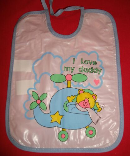 Babies Bib various desgins 19cm by 26cm pvc BUY 2 get 1 free or BUY 5 get 5 free