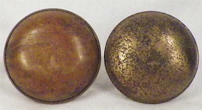 2 Vintage Brass Door Knobs Hardware Restoration NO POST NEEDS POLISHING