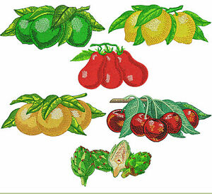Image Is Loading ABC Designs 6 Juicy Kitchen Joy Machine Embroidery