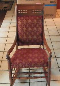 Walnut-Carved-Rocker-Rocking-Chair-brick-gold-chenille-R126