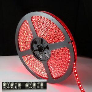 3528-SMD-600-LED-Waterproof-Red-Strip-Light-Black-PCB-120led-M-5M-16FT-12V-New