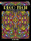 Deco Tech Stained Glass Coloring Book by John Wik (Paperback, 2013)