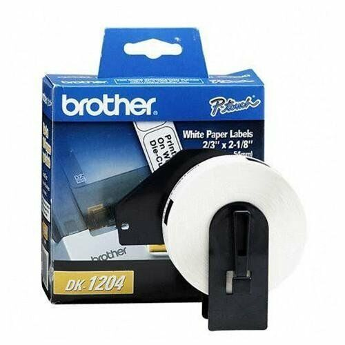 4 of DK1204 BredHER P-TOUCH PAPER DIE CUT LABELS 2 3IN