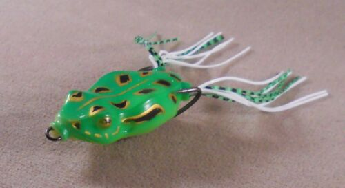 Bass Fishing Lure ginghua 2520 tackle Soft Plastic Hollow Bodied Frog 1//4 oz.