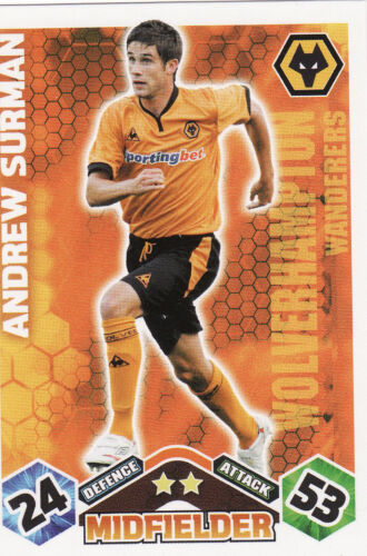Match Attax 09//10 Wolves Cards Pick Your Own From List
