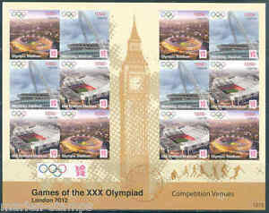 UGANDA LONDON 2012 OLYMPIC GAMES VENUES IMPERFORATED SHEET MINT NH