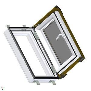 dachfenster ausstiegsfenster skylight 55x78 kunststoff mit eindeckrahmen rechts ebay. Black Bedroom Furniture Sets. Home Design Ideas