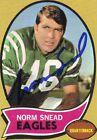 1970 Topps Norm Snead Philadelphia Eagles #115 Football Card