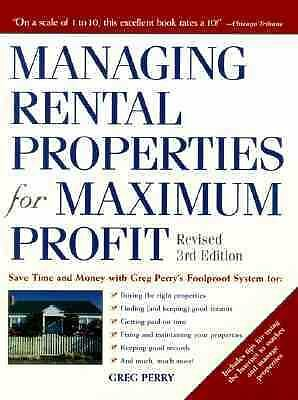Managing Rental Properties for Maximum Profit : Save Time and Money with Greg Pe
