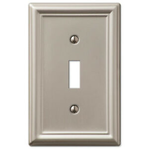 Chelsea Brushed Satin Nickel Switchplate Wall plate covers light ...:Image is loading Chelsea-Brushed-Satin-Nickel-Switchplate-Wall-plate-covers-,Lighting