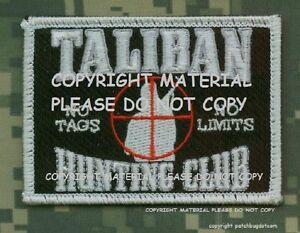 TALIZOMBIE-WHACKER-AFG-PAK-JSOC-INFIDEL-hook-loop-PATCH-Taliban-Hunting-Club
