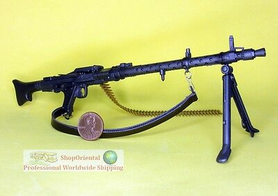 Panzer Yellow Dragon WWII 1//6 German MG34 with Ammunition and Accessories
