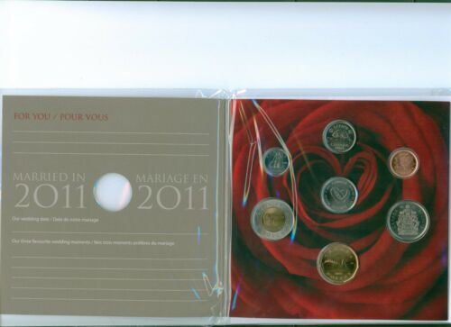 Married in 2011 CANADA COIN SET LOW MINTAGE ! GEM BU!!