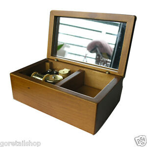Wooden-Music-Box-with-Gold-movement-Play-Lilium-of-Elfen-Lied-Model-FT007