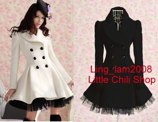 *2 colors * Princess Lolita Cute Sweet Gothic Nana PUNK Kera Jacket Coat S~XL