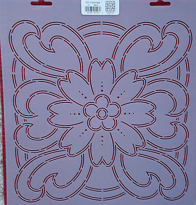"Stencil Quilting Cambridge 11"" 28cm PC3 embroidery Pat Campbell crafts stitch QC"