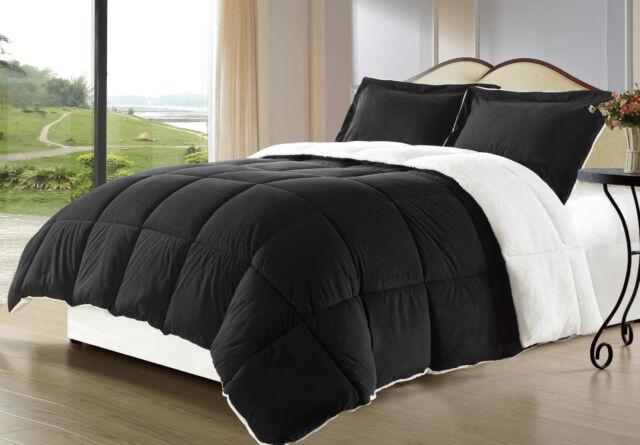 Borrego Sherpa/Berber Down Alternative Comforter mini Set, Multiple Colors, Size