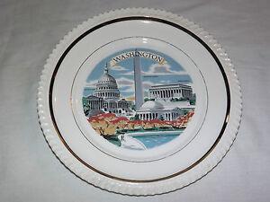 VINTAGE 1960-70S WASHINGTON LINCOLN MEMORIAL    SOUVENIR PLATE