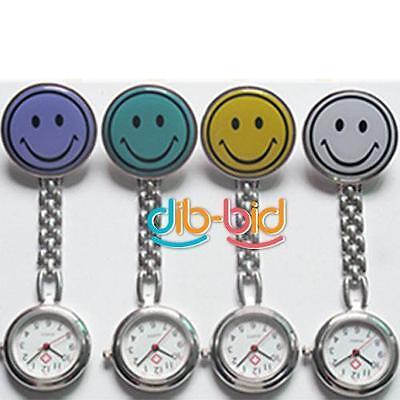 New Smile Face Nurse Fob Brooch Pendant Pocket Watch SSCA