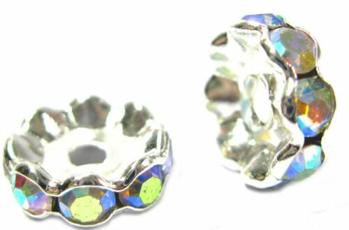 20PCS X AB CRYSTL RHINESTONE SPACER BEADS USED TO MAKE SHAMBALLA BRACELET B2
