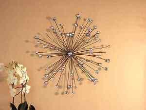 Wanddekoration  Wanddekoration Wanddeko Wand Wandobjekt Deko Metall Glas modern ...