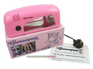 GLAMOURPUSS-BOUTIQUE-9W-UV-NAIL-LAMP-SUGAR-PINK-1-x-9W-BULB-CE-APPROVED