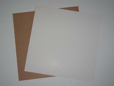 """Kraft Card White One Side 10 x 12"""" x 24"""" 350gsm for Cardmaking Mounting Backing"""