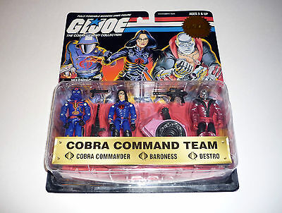 1997 COBRA COMMAND TEAM G.I. Joe Figures Commander Baroness Destro MOC COMPLETE
