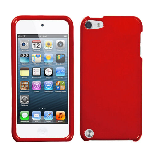 For Apple iPod Touch 5 5th gen HARD Protector Case Phone Cover Flaming Red