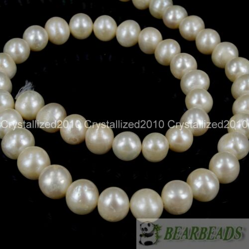 """Natural White Freshwater Pearl Round Beads 5mm 6mm 7mm 8mm 9mm 10mm 11mm 16/"""""""