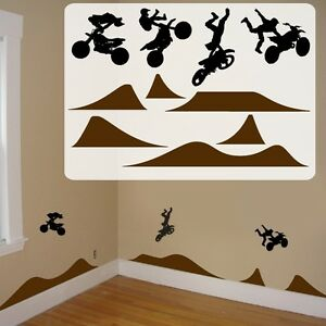 Image is loading motocross-kids-room-decals-fathead-style-motocross-kids-