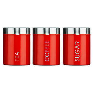 Tea-Coffee-amp-Sugar-Kitchen-Pots-Canisters-Set-of-3