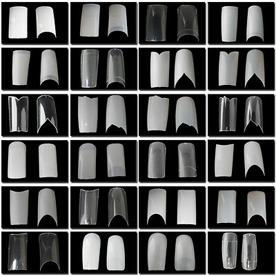 SALE ALL £1! 500 French Acrylic Nail Tips - 30 Difference Style Tips