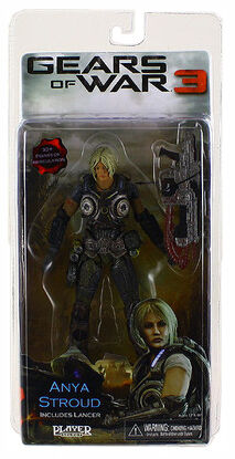 NECA Gears Of War 3 Series 1 Anya Stroud Action Figure
