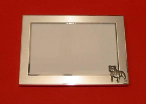 Staffordshire Bull Terrier Motif 4 x 6 Picture Frame Vet Kennels Christmas Gift