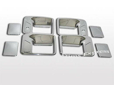 1999-2016 Ford F-250/F-350/SuperDuty 4 Door Chrome Handle Covers with PSKH