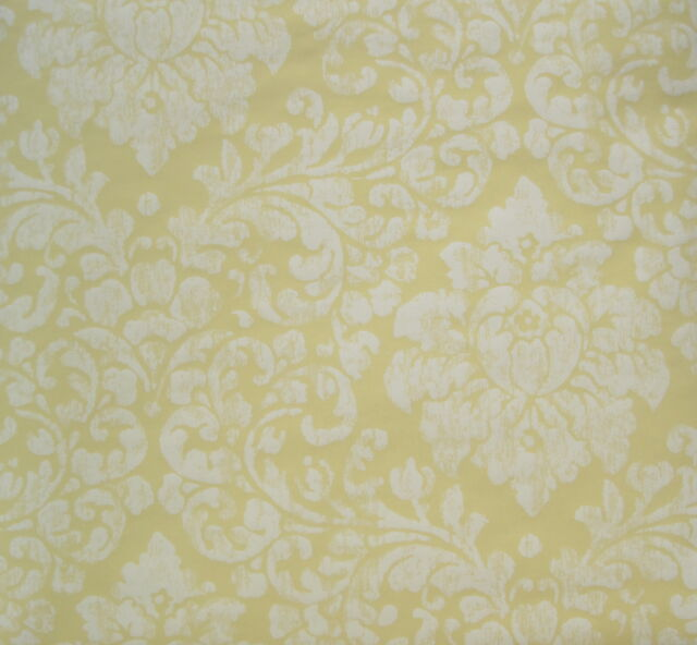 RONALD REDDING WHITE FLOWERS on YELLOW wallpaper DOUBLE ROLL