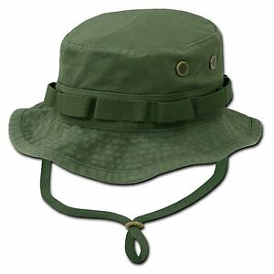 Olive green military boonie hunting army fishing bucket for Green top hunting and fishing