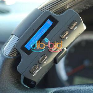 Steering-Wheel-Bluetooth-Handsfree-Speaker-Phone-Car-Kit-TF-Card-MP3-Player