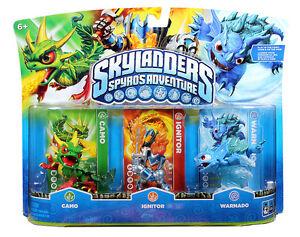 NIB Skylanders Spyro Adventure Pack CAMO IGNITOR WARNADO ...