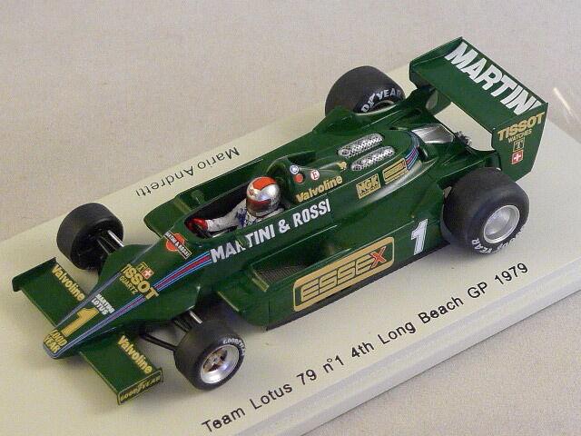 Spark S1851 - LOTUS 79 n°1 4ème GP Long Beach 1979 Mario Andretti 1 43
