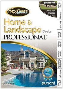 Punc Home And Landscape Design Professional For Pc New Sealed