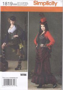 Simplicity-1819-Steampunk-Victorian-Costume-Pattern-sz-6-12