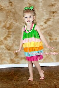 Rainbow-Layer-Gown-Pageant-Girl-Party-Skirt-Evening-Cocktail-Dress-2-7Y-PD010